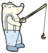 stock photo of polar bears  - polar bear fishing cartoon  - JPG