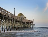 pic of apache  - Apache Pier in the surf of Myrtle Beach - JPG
