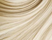 stock photo of hair streaks  - Blond Hair Texture - JPG