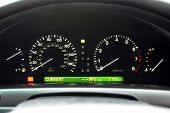 pic of speedo  - Car Speedometer and Illuminated Dashboard Display Items - JPG