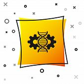 Black Gene Editing Icon Isolated On White Background. Genetic Engineering. Dna Researching, Research poster