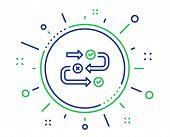 Survey Progress Line Icon. Quiz Algorithm Sign. Business Interview Symbol. Quality Design Elements.  poster