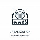 Urbanization Icon Isolated On White Background From Industrial Revolution Collection. Urbanization I poster