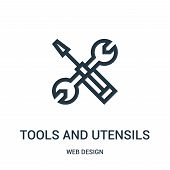 Tools And Utensils Icon Isolated On White Background From Web Design Collection. Tools And Utensils  poster