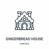 Gingerbread House Icon Isolated On White Background From Fairytale Collection. Gingerbread House Ico poster