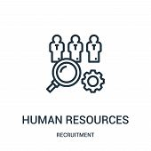 Human Resources Icon Isolated On White Background From Recruitment Collection. Human Resources Icon  poster