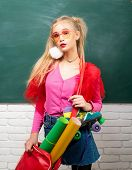 Self Expression And Fashion. Fancy Schoolgirl. School Fashion. Creative Teen. Fashionable Girl Creat poster