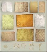 Постер, плакат: Scrapbooking комплект Старый текстуры бумаги: разные возрасте бумаги элементы для ваших макетов