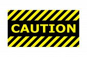 Caution Banner Sign Vector Eps10. Border With Line Yellow And Black Color. Caution Sign. Border And  poster