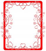 stock photo of valentine love  - valentine frame - JPG