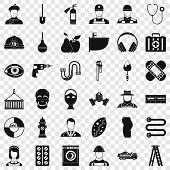 Good Occupation Icons Set. Simple Style Of 36 Good Occupation Vector Icons For Web For Any Design poster