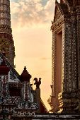 Wat Arun Temple At Sunset In Bangkok Thailand. Wat Arun Is A Buddhist Temple In Bangkok Yai District poster