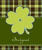 pic of saint patricks day  - Four leaf clover textile label - JPG