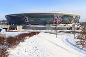 DONETSK, UKRAINE - FEBRUARY 4: Donbass Arena stadium on February 4, 2012 in Donetsk, Ukraine. One se
