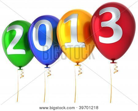 New Year 2013 balloons party celebrate decoration