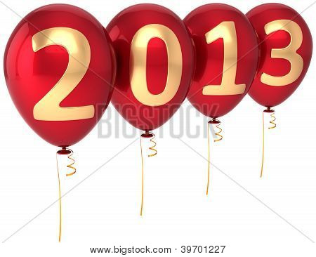 Party balloons New Year 2013 Christmas occasion decoration