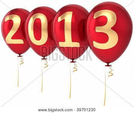 New Year 2013 balloons party decoration. Countdown calendar date