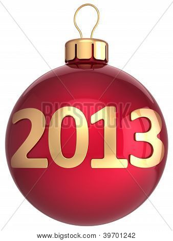Christmas ball 2013 New Year bauble lucky calendar date countdown
