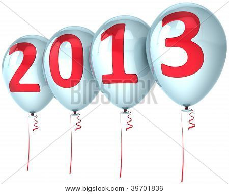 New Year 2013 party balloons holiday decoration