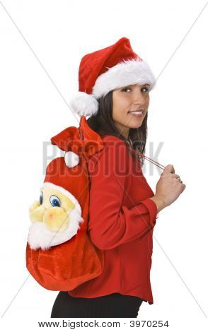 Beautiful Santa Woman