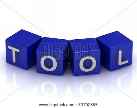 Tool Text On Blue Cubes