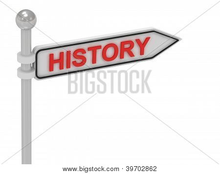 History Arrow Sign With Letters
