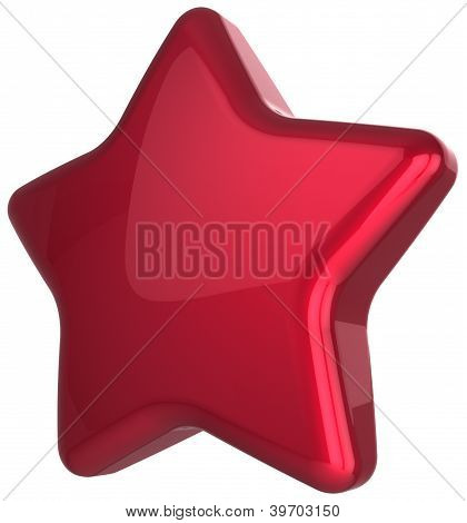 Red star blank award decoration