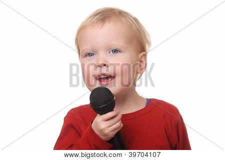 Toddler With Microphone