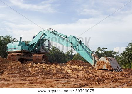 Heavy Duty Construction Equipment Parked