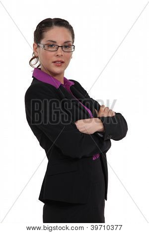 An authoritative businesswoman