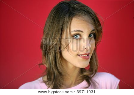 Young woman unsure of herself