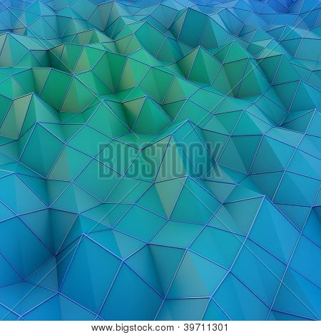 Abstract Blue Landscape Background