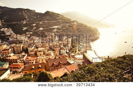 View of Minori town, Italy