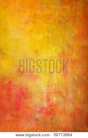 Abstract Textured Background: Red And Orange Patterns On Yellow Backdrop