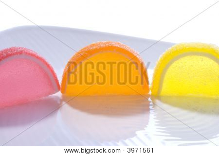 Colorful Jelly Candy Slices