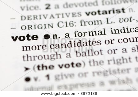 Dictionary Definition Of Vote