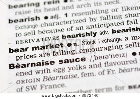 Dictionary Definition Of Bear Market