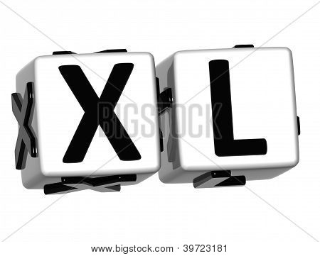 3D Xl Button Click Here Block Text