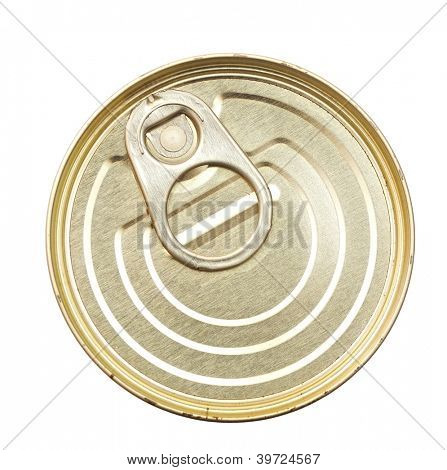 canned food isolated on white background