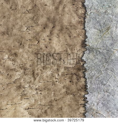 Texture Of Old Parchment And Stone