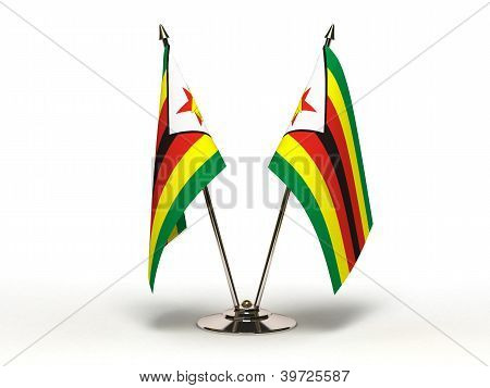 Miniature Flag Of Zimbabwe (isolated)