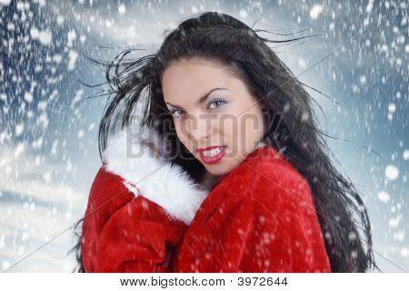 sexy Santa und Schneesturm