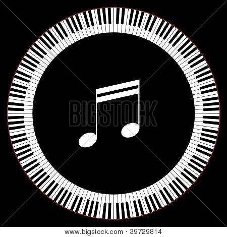 Circle Of Piano Keys