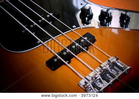 Jazz Bass Guitar Close-Up