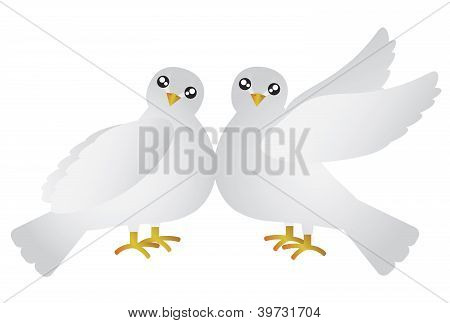 Pair Of Doves Illustration