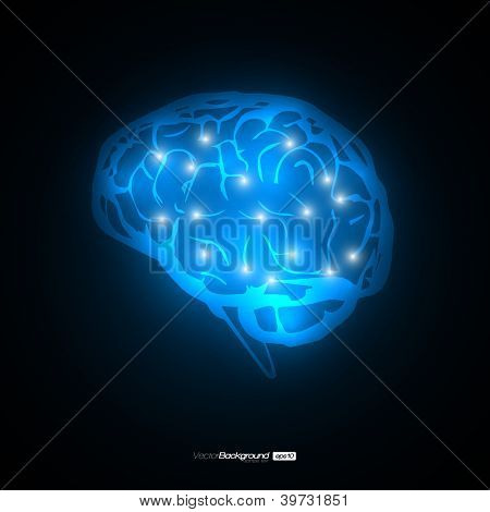 Brain Concept Vector Design | EPS10 Illustration