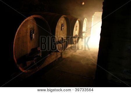 Wine Cellar And Casks