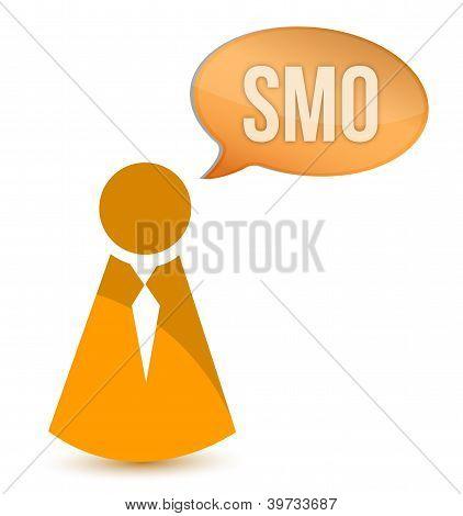 Businessman Smo Message