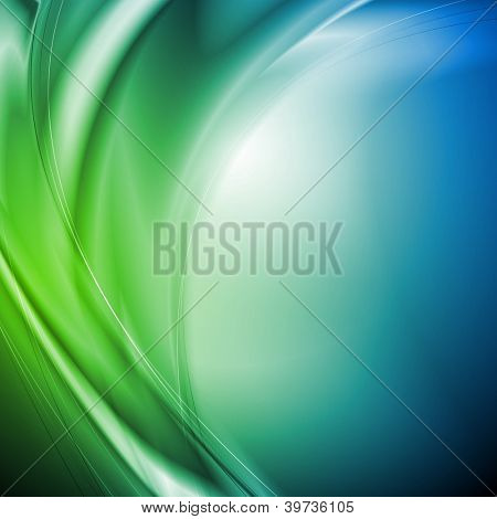 Abstract wavy background. Vector design eps 10. Gradient mesh included