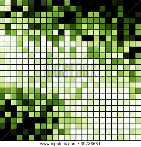 Green blocks background